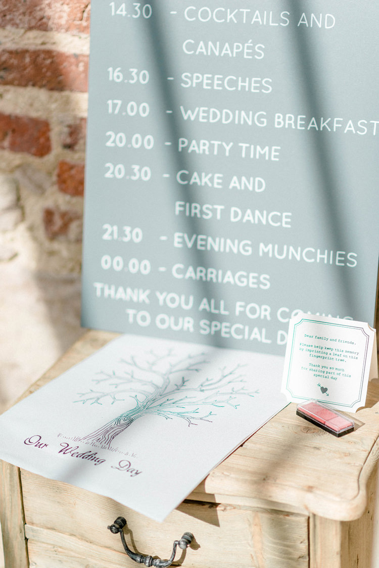 Finger Print Guest Book Tree Newton Hall Wedding Sarah-Jane Ethan Photography