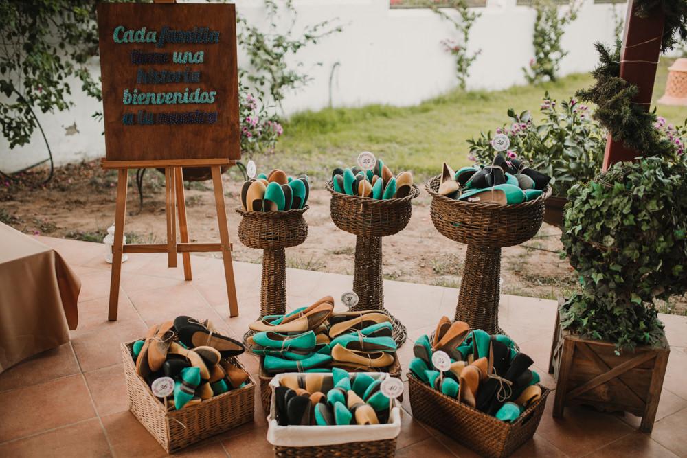Outdoor Seville Destination Villa Hacienda Beige Green Shoes | Colorful and Heartfelt Wedding in Spain Boda&Films
