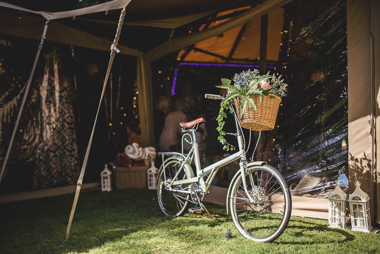 Bike Bicycle Flowers Basket Tipi Garden Wedding Wedding Foxley Photography