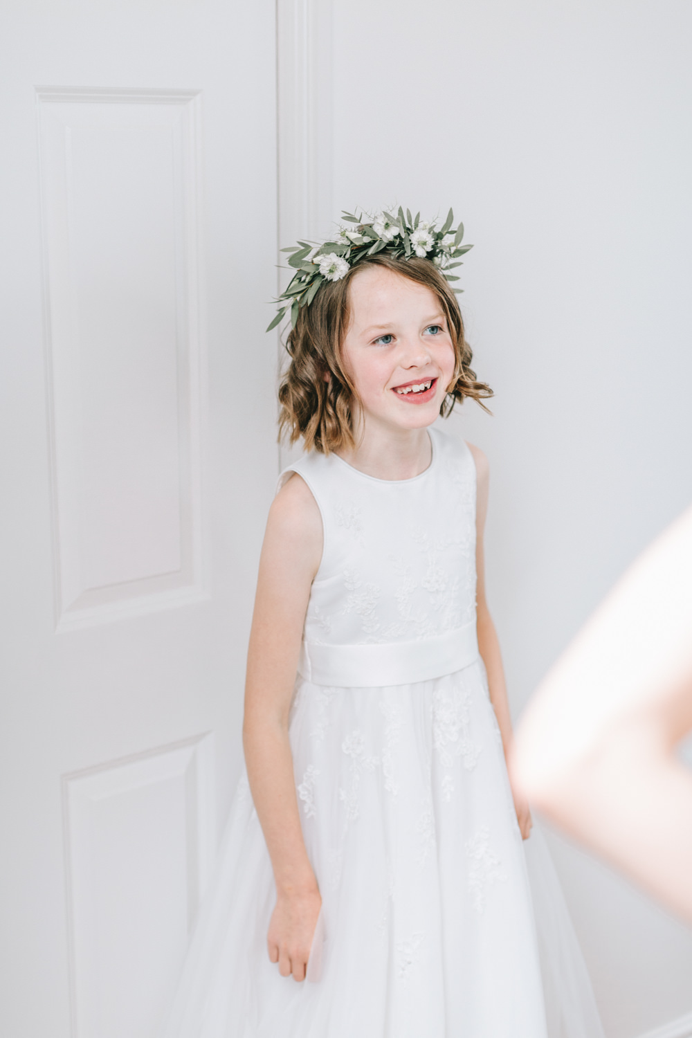 Flower Girl Dress Crown Healey Barn Wedding Amy Lou Photography