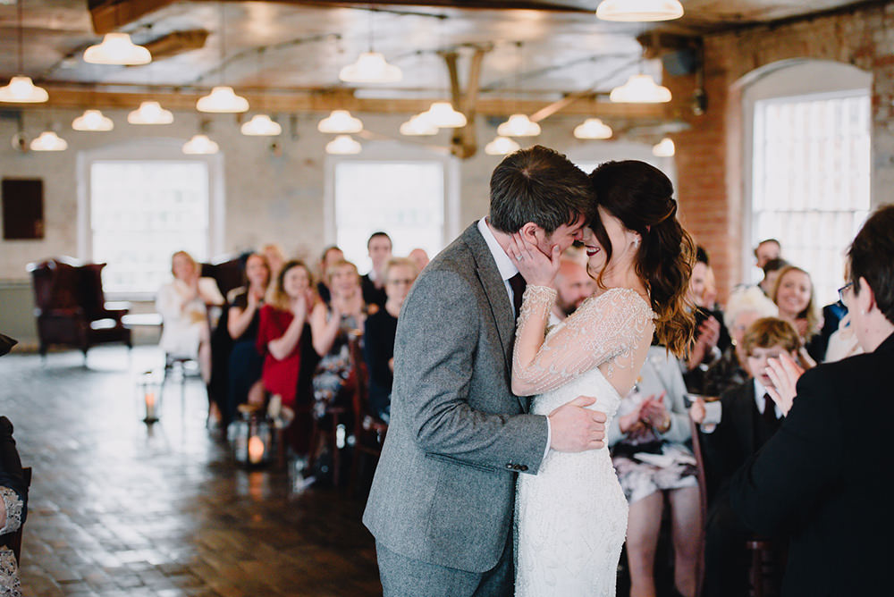Industrial Winter Wedding Reality Photography