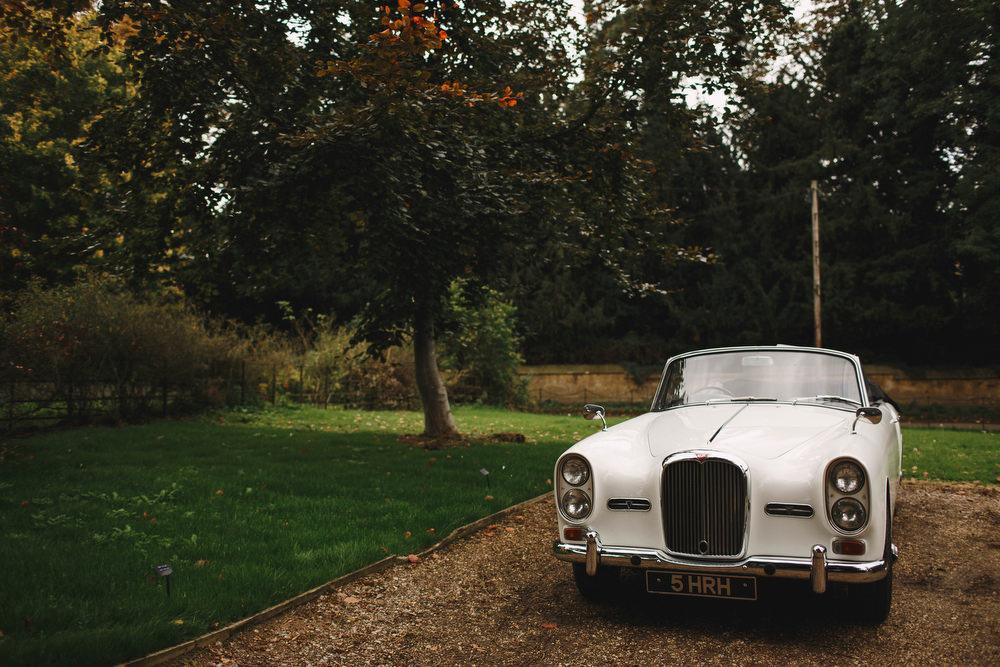Cotswolds Royal Castle Summer Autumn Elegant Traditional White Classic Car   Sudeley Castle Wedding ARJ Photography