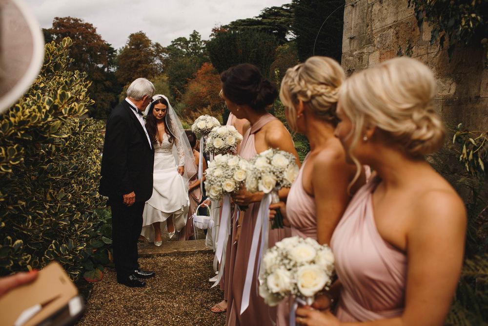 Cotswolds Royal Castle Summer Autumn Traditional Classic Elegant Black Tie White Rose Bride Father White Bouquet   Sudeley Castle Wedding ARJ Photography