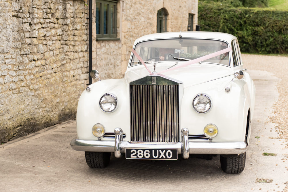 Classic Cream Car Tythe Barn Priston Mill Wedding Eleanor Jane Photography