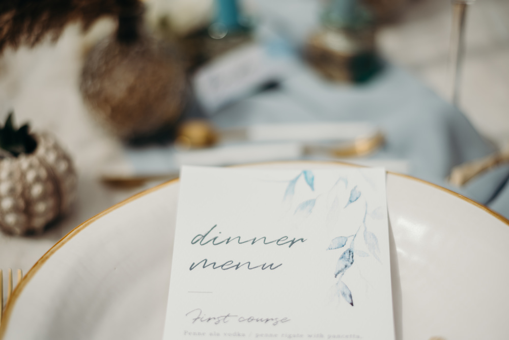 Outdoor Wild Nature Destination Spain Europe Coastal Styled Shoot Beach Table Elegant Styling Menu Stationery   Blue Ibiza Elopement Ideas and Surprise Proposal Serena Genovese Photography