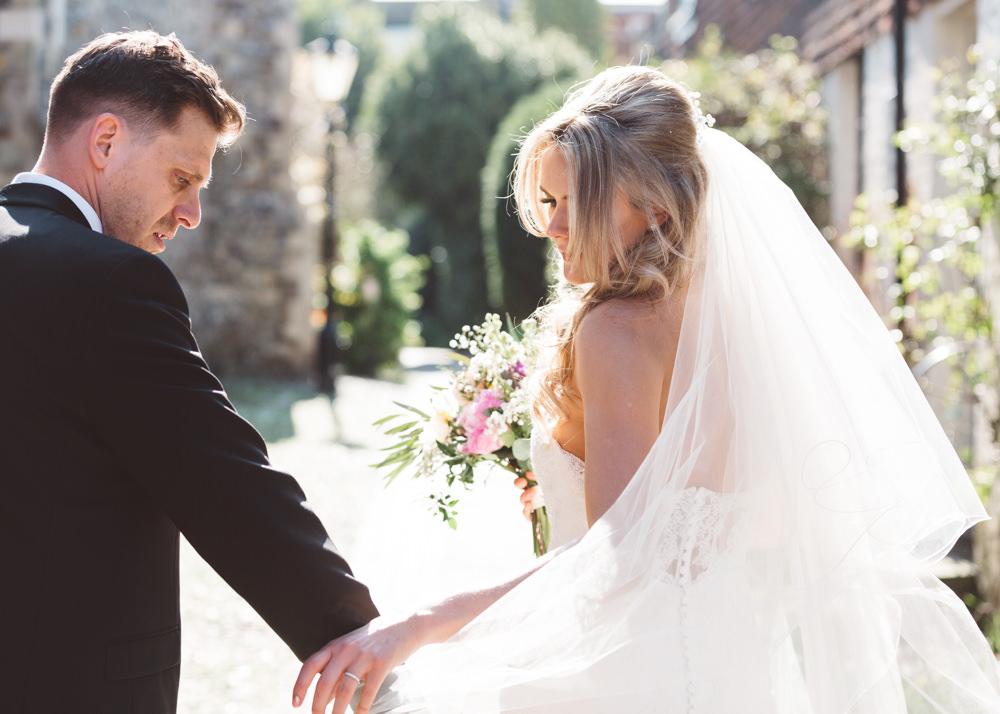 Veil Bride Bridal George Rye Wedding Hollie Carlin Photography