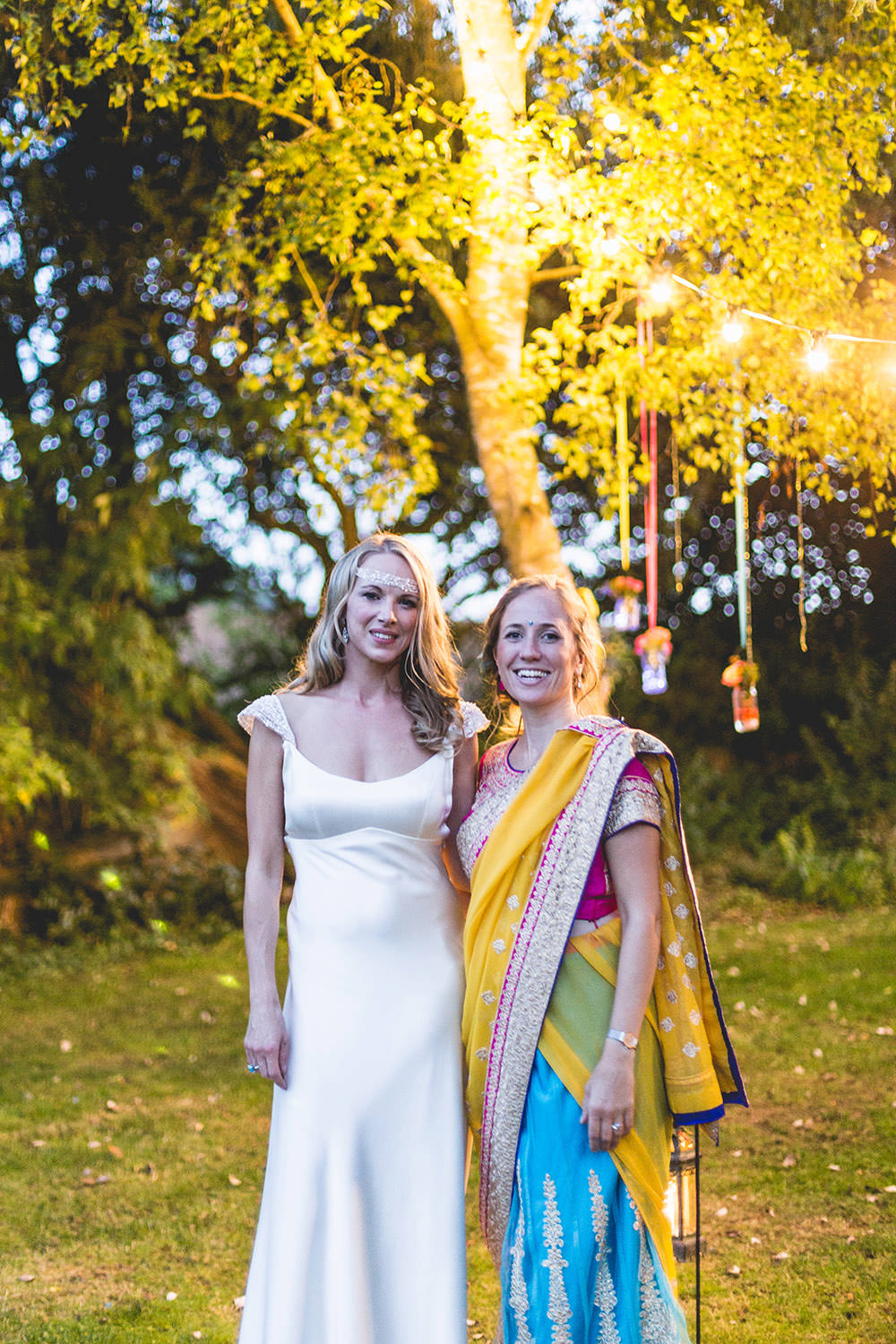 Bridesmaid Lehenga Sari Hothorpe Hall Woodlands Wedding Lucy Long Photography