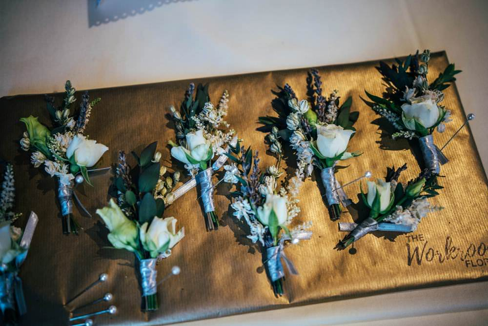 Buttonholes Rose Warm Welcoming Wedding Three Flowers Photography