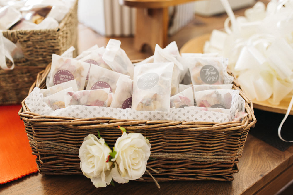 Confetti Basket Envelopes Glassine Wray's Barn Whinstone View Wedding Sally T Photography