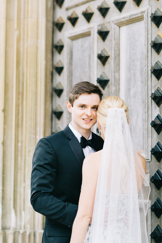 Groom Suit Tuxedo Black Bow Tie Highcliffe Castle Wedding Bowtie and Belle Photography