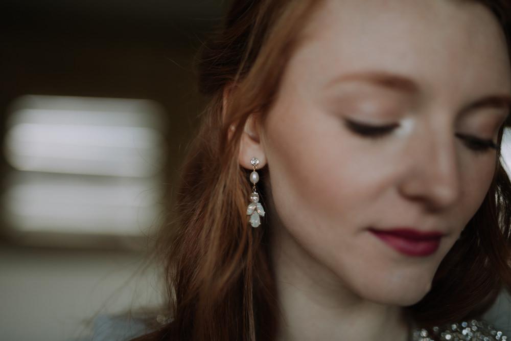 Earrings Bride Bridal Jewellery Industrial Luxe Wedding Ideas Balloon Installation Ayelle Photography