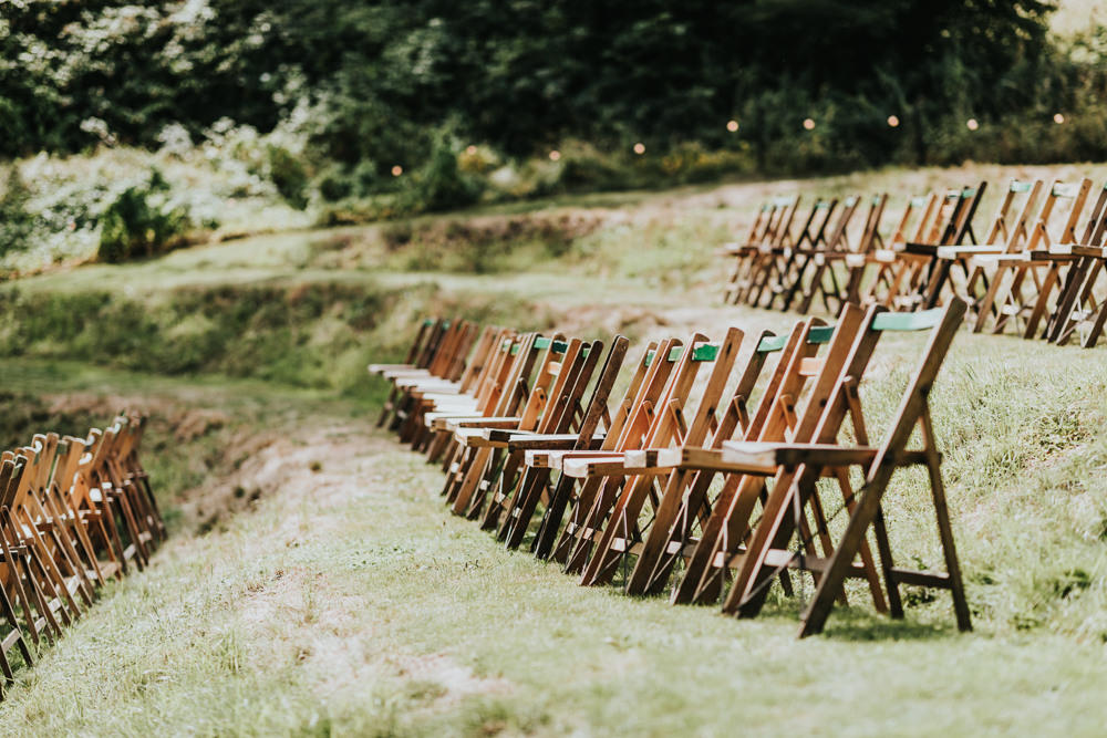 Keeper and The Dell Boho Farm Field Marquee DIY Alternative Rustic Outdoor Ceremony Arch Macrame Ivy | Relaxed Outdoor Wedding with 1000 Rainbow Origami Cranes Dan Biggins Photography