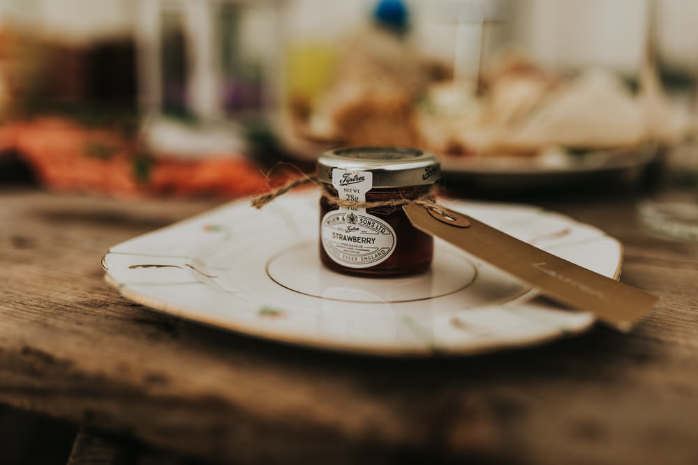 Keeper and The Dell Boho Farm Field Marquee DIY Alternative Rustic Reception Afternoon Tea Jam | Relaxed Outdoor Wedding with 1000 Rainbow Origami Cranes Dan Biggins Photography