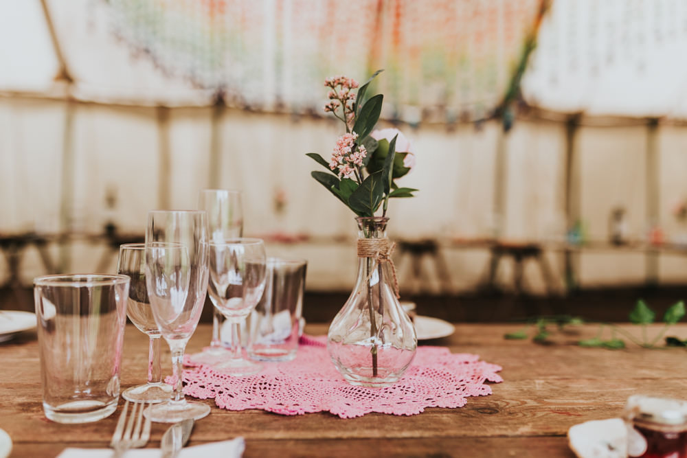 Keeper and The Dell Boho Farm Field Marquee DIY Alternative Rustic Faux Flowers Crochet | Relaxed Outdoor Wedding with 1000 Rainbow Origami Cranes Dan Biggins Photography