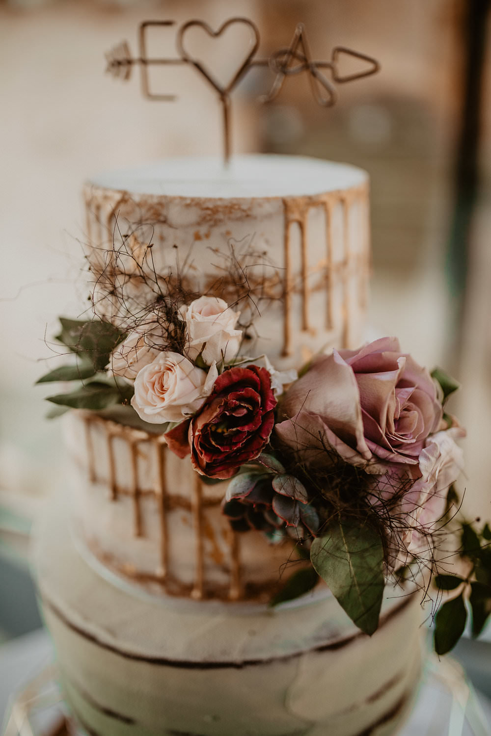 Mint Green Semi Naked Cake Drip Wire Topper Flowers Greenery Norwich Cathedral Wedding Camilla Andrea Photography