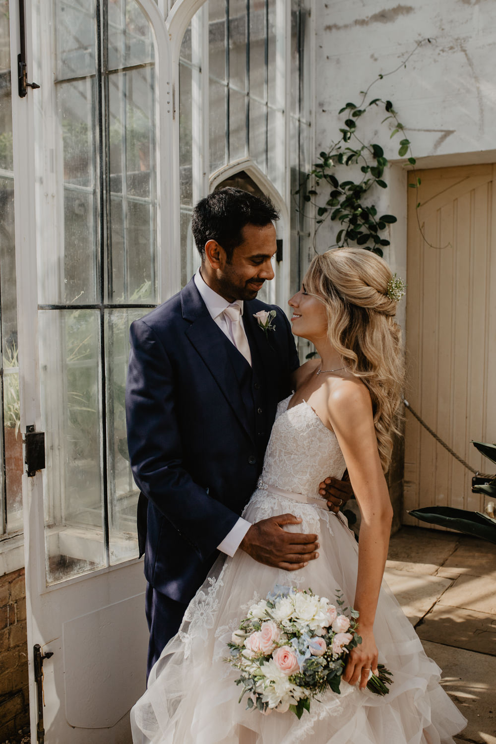 Osborne House Isle of Wight Natural Classic Blush Pastel Bridal Bouquet Bride Groom Romantic Portraits Rose Garden | Timeless Royal Inspired Seaside Wedding Holly Cade Photography