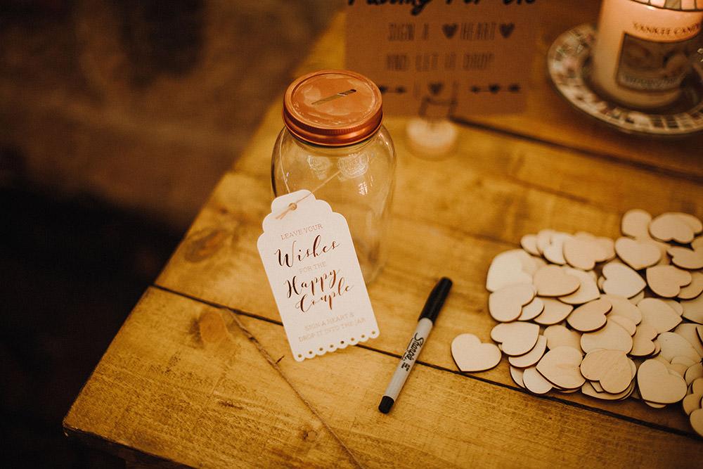 Wish Jar Guest Book Pimhill Barn Wedding Shrophire Leah Lombardi Photography