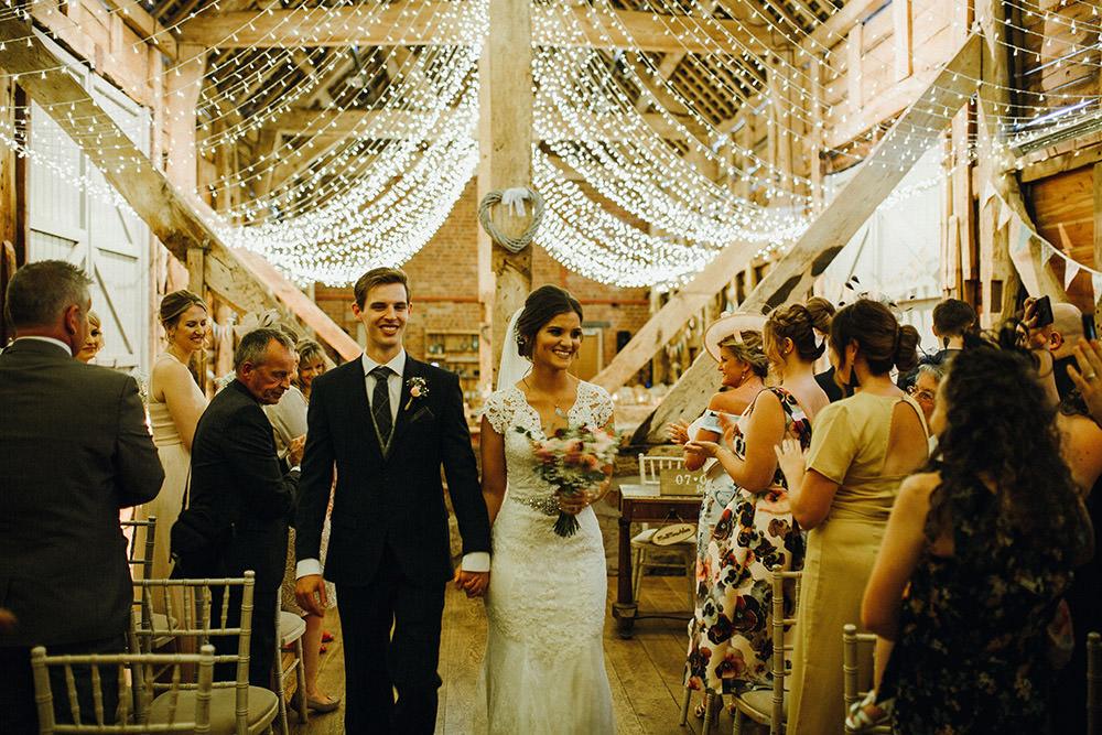 Fairy Lights Lighting Canopy String Ceiling Decor Pimhill Barn Wedding Shrophire Leah Lombardi Photography