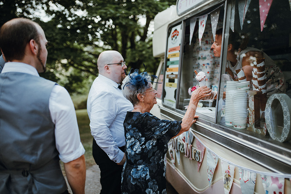 Ice Cream Van Pimhill Barn Wedding Shrophire Leah Lombardi Photography