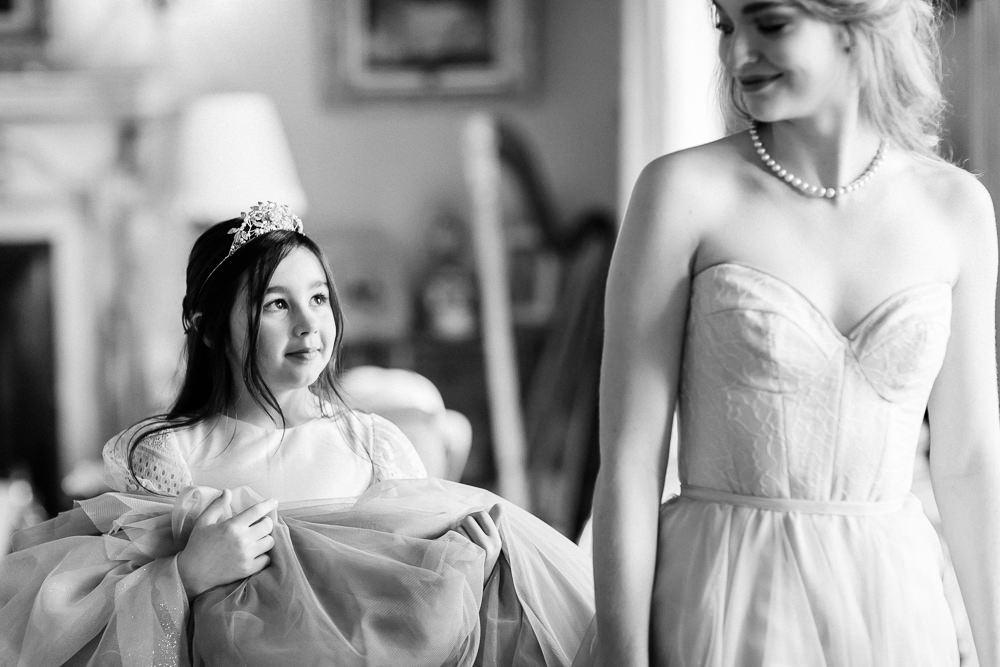 Modern Dance Ballet Dance Inspired Editorial Fine Art Morning Flower Girl Bride Dress | Romantic Soft Wedding Ideas Siobhan H Photography