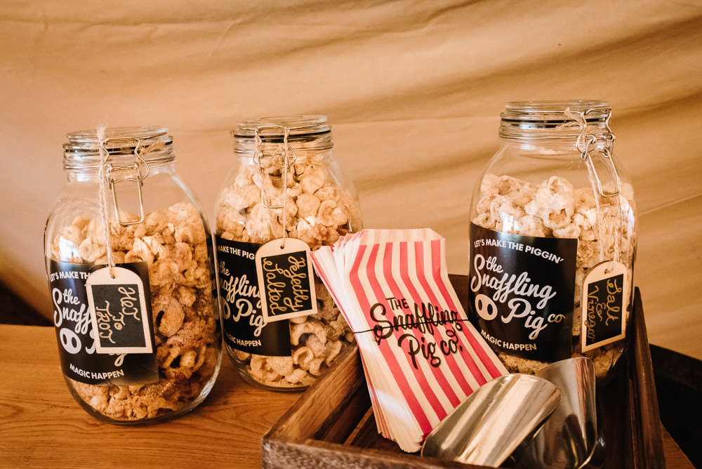Pork Scratchings Station Bar Table Alcott Weddings Oobaloos Photography