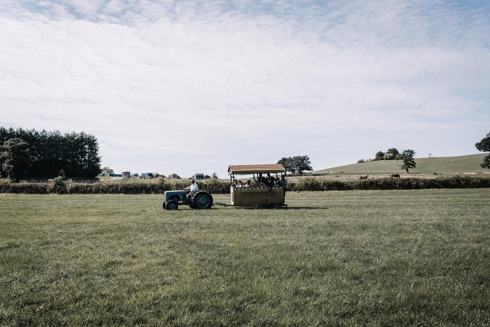 Tractor Trailer Transport Alcott Weddings Oobaloos Photography