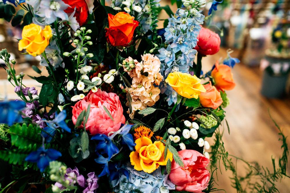 Multicolour Meadow Wildflower Flowers Floral Fun Quirky Colourful Wedding Fairclough Studios