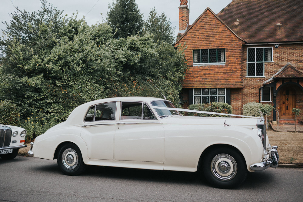 Classic Car Vintage Transport Loseley Park Wedding Kit Myers Photography