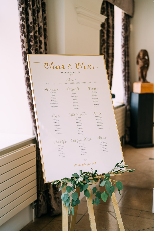 Seating Plan Table Chart Modern Old Down Estate Wedding Albert Palmer Photography
