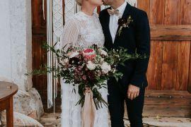 Macrame Backdrop Ceremony Slovenia Wedding Bohemian Maja Tsolo Photography