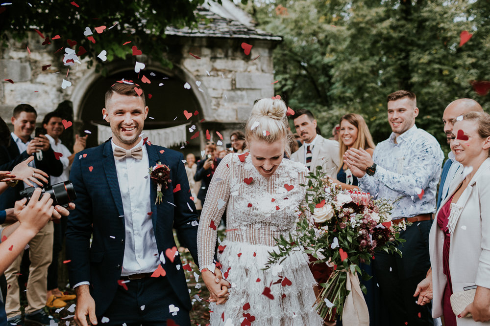 Confetti Throw Slovenia Wedding Bohemian Maja Tsolo Photography