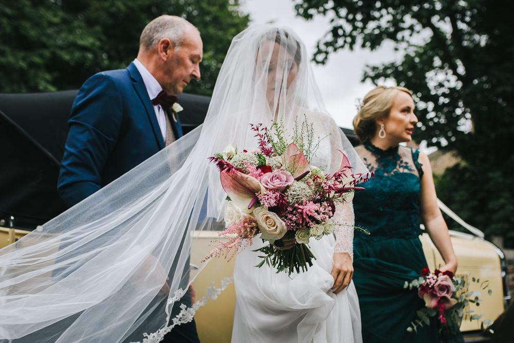 Bride Bridal Veil Tipi Garden Wedding Amy Jordison Photography