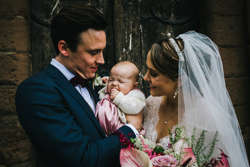Baby Flower Girl Tipi Garden Wedding Amy Jordison Photography