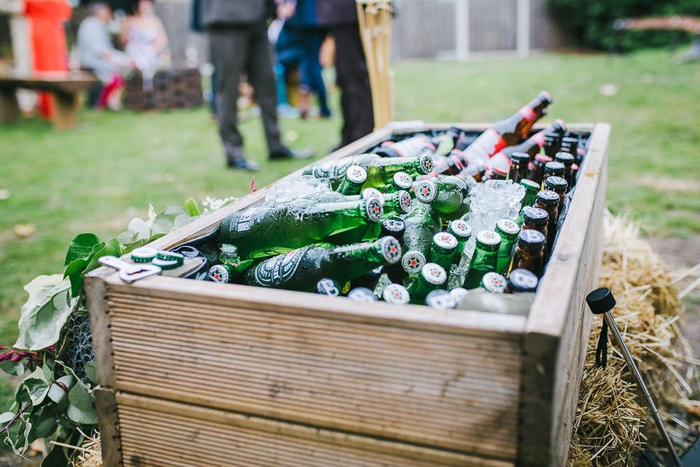 Booze Drinks Trough Tipi Garden Wedding Amy Jordison Photography