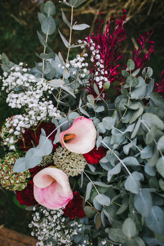 Flowers Eucalyptus Lily Gypsophila Tipi Garden Wedding Amy Jordison Photography