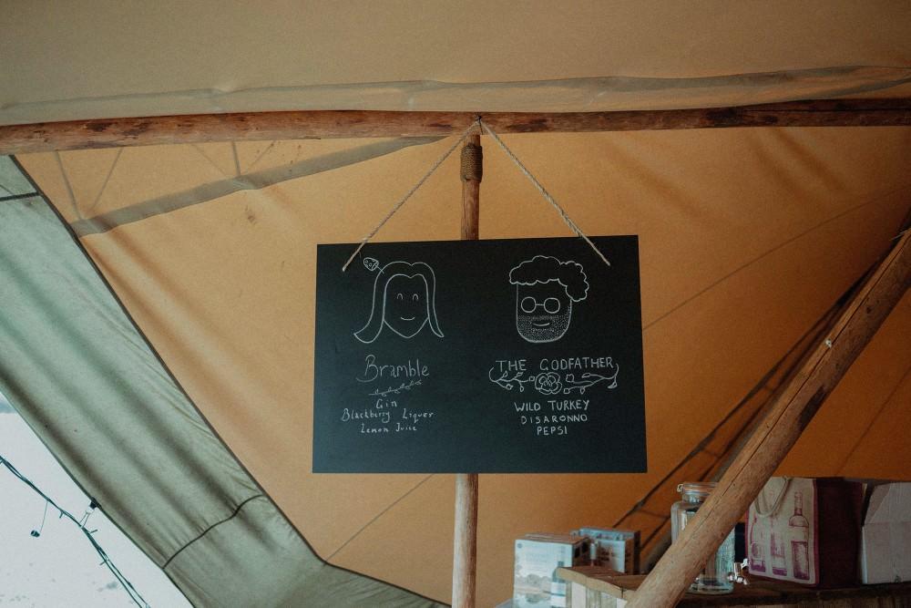 Chalk Black Board Sign Autumn Dark Red Wedding Belle Art Photography