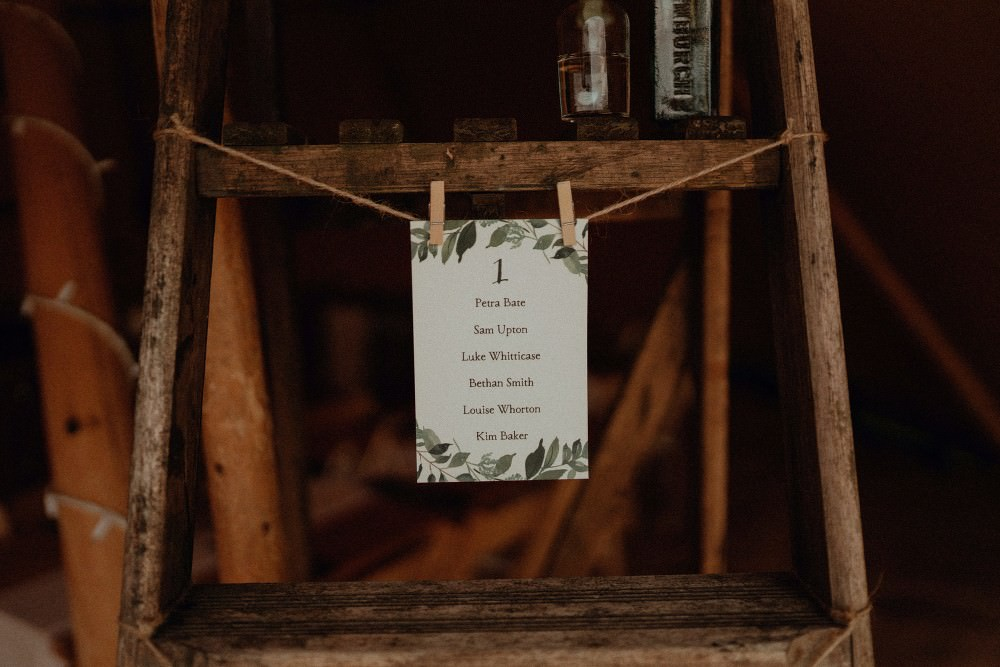 Peg Botanical Seating Plan Table Chart Autumn Dark Red Wedding Belle Art Photography
