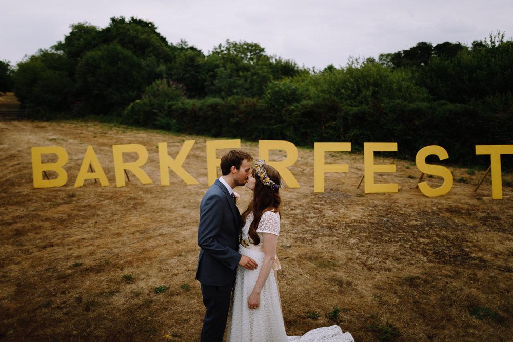 Sign Letters Name Field Large Giant Signage Boho Festival Wedding Matt Bowen Photography