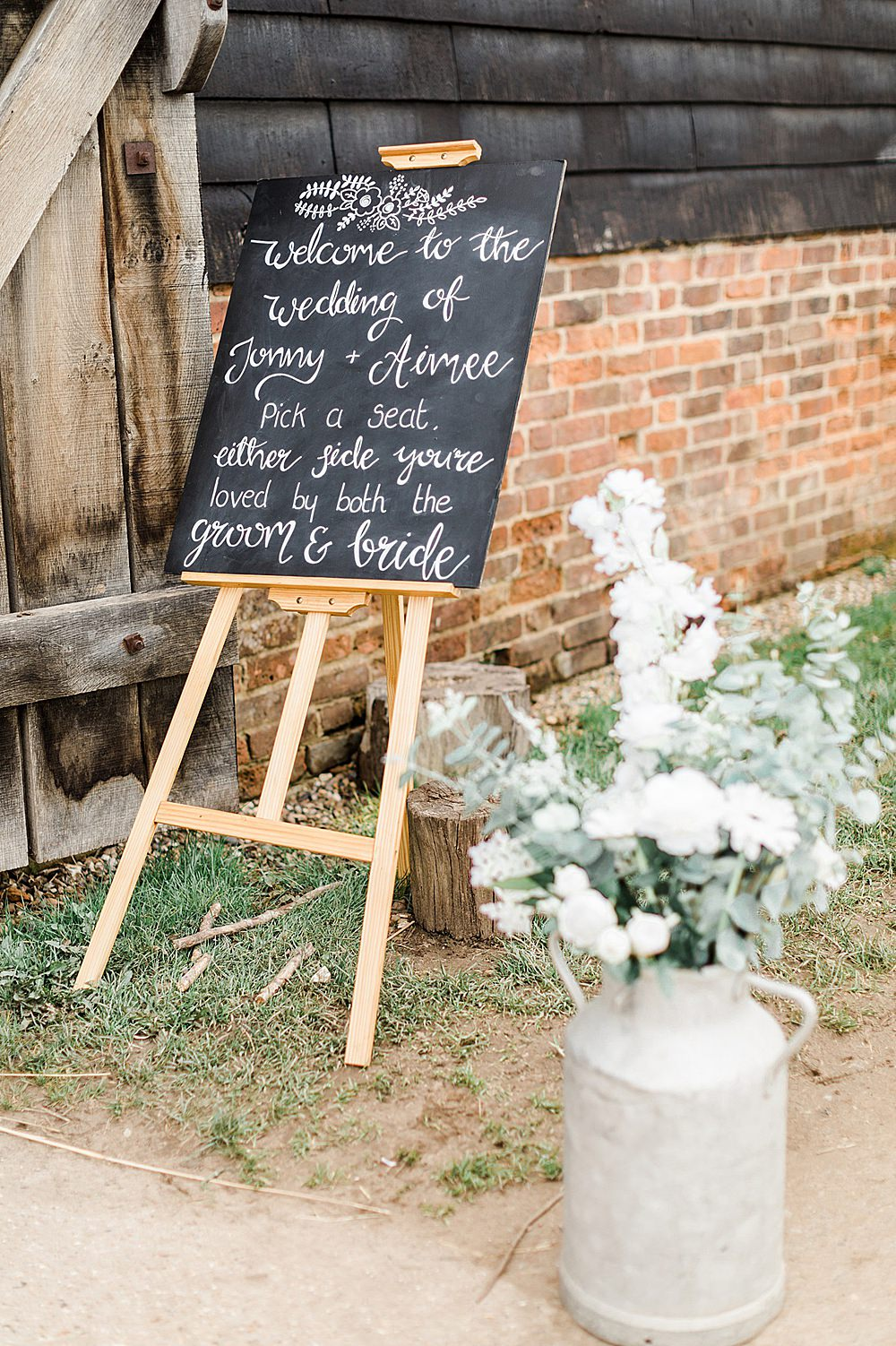 Chalk Black Board Sign Easel Welcome Calligraphy Chiltern Open Air Museum Wedding Terri & Lori Fine Art Photography