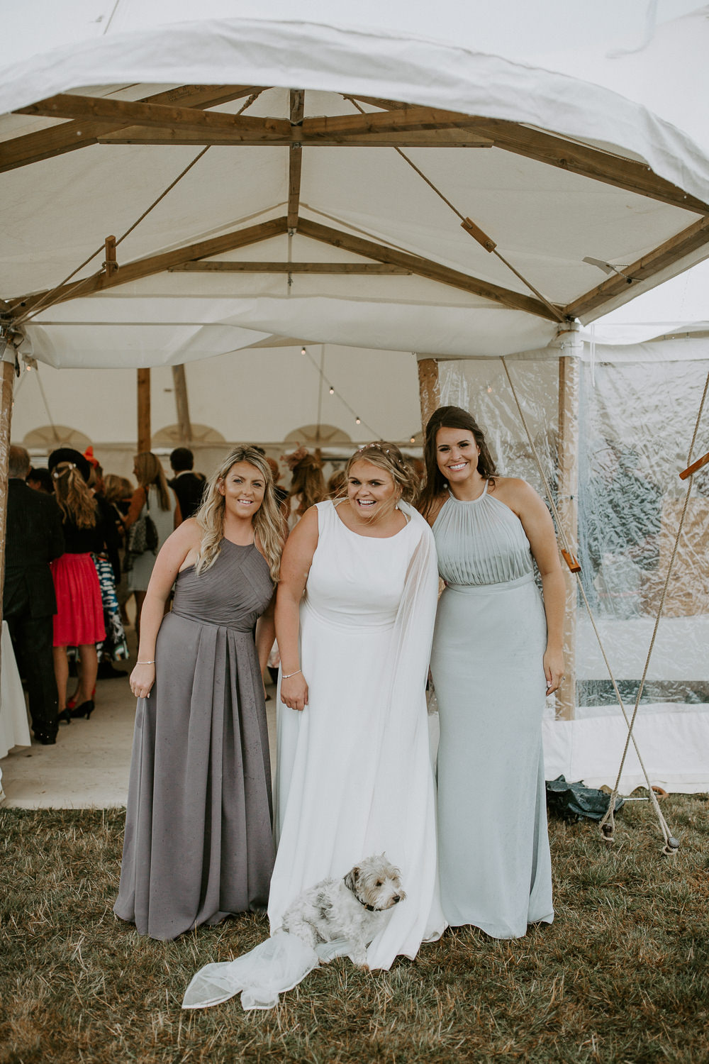Bridesmaids Dresses Lilac Grey City Cathedral Country Marquee Wedding Siobhan Beales Photography