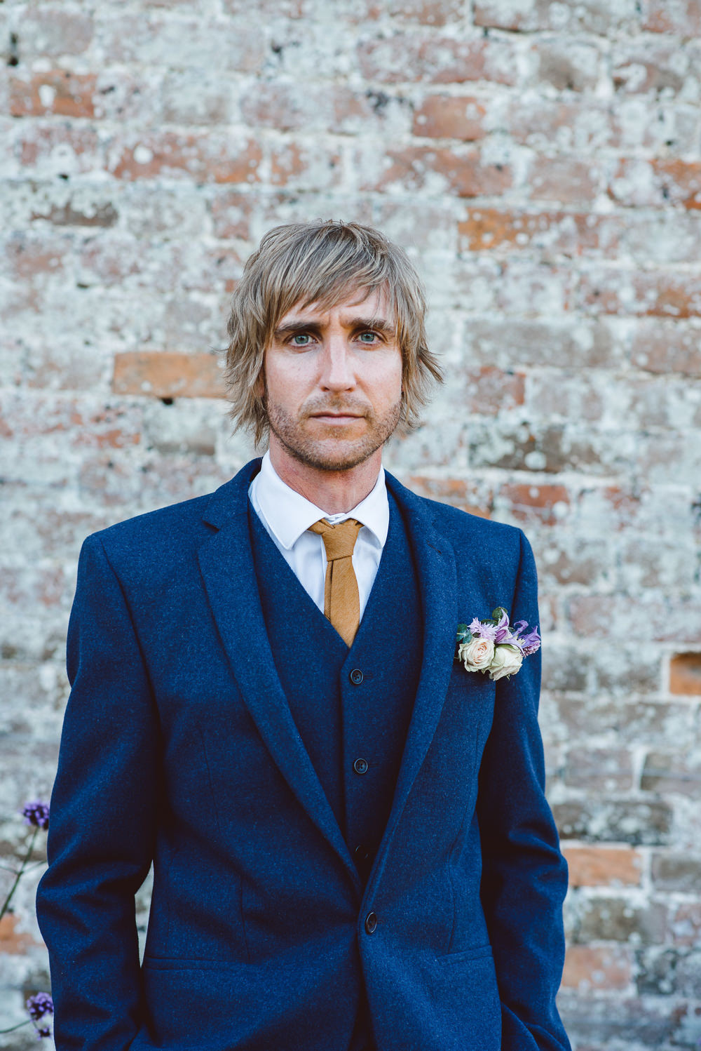 Groom Suit Navy Blue Gold Tie Ethereal Magical Golden Hour Wedding Ideas Dhw Photography