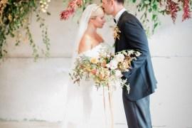 Flower Installation Backdrop Greenery Foliage Dahlia Wild Natural Fine Art Farm Wedding Ideas Seyi Rochelle Photography