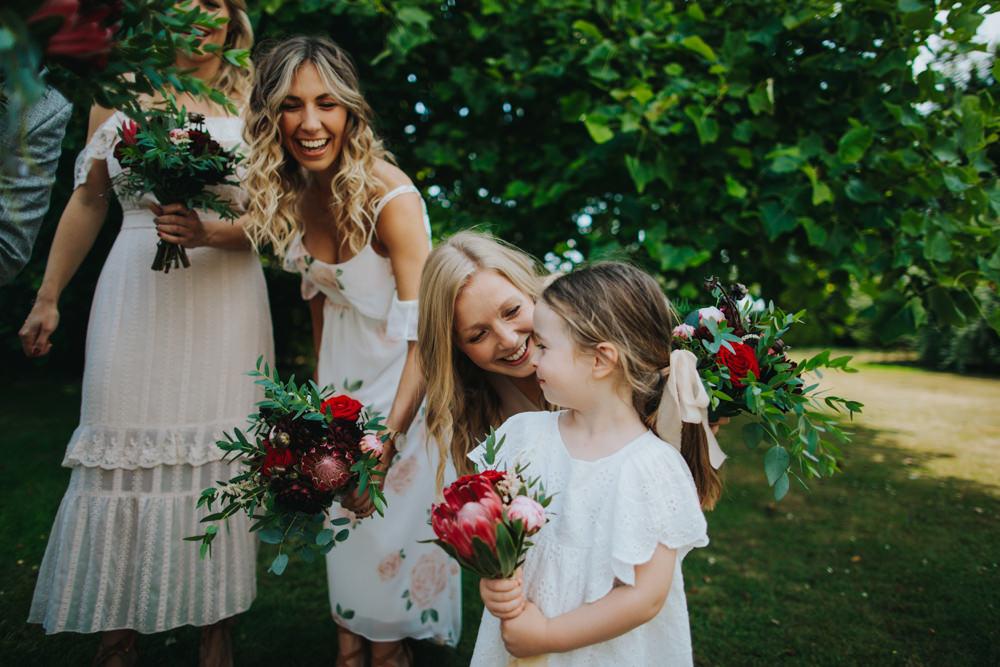 Flower Girl White Dress Godwick Great Barn Wedding Joshua Patrick Photography