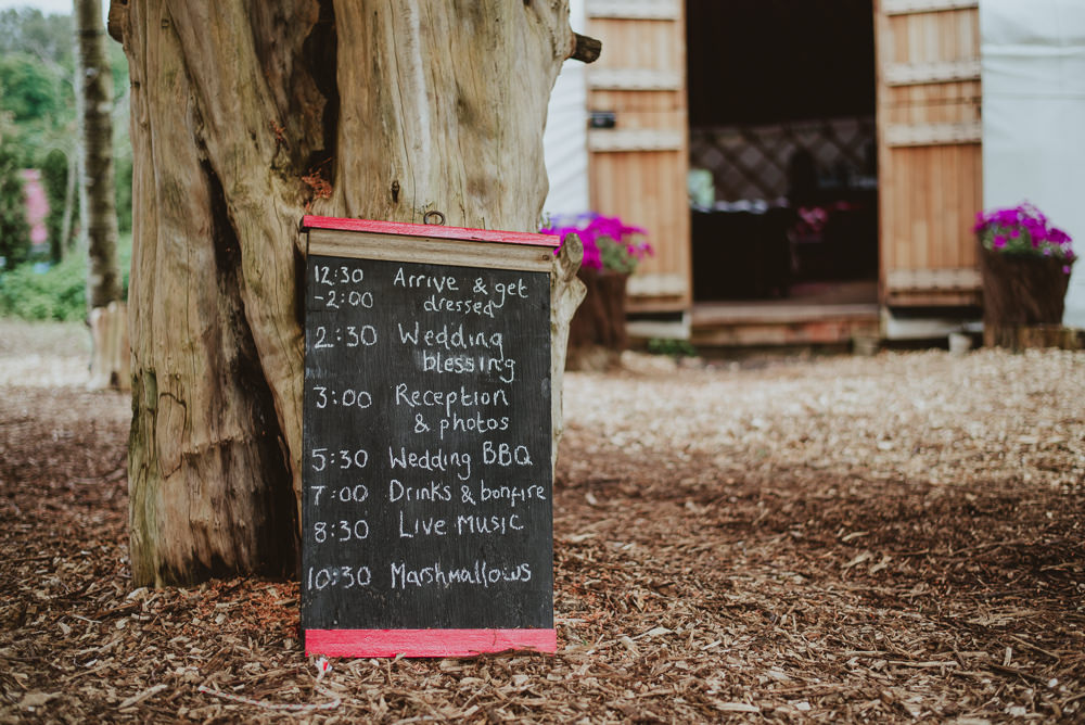 Chalk Black Board Sign Order Plush Tents Glamping Wedding Big Bouquet Photography