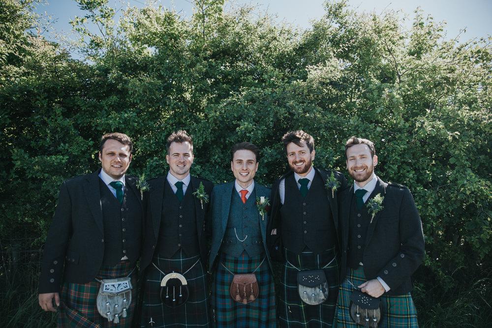 Kilt Groom Groomsmen Strawberry Barn Wedding Jen Owens Images