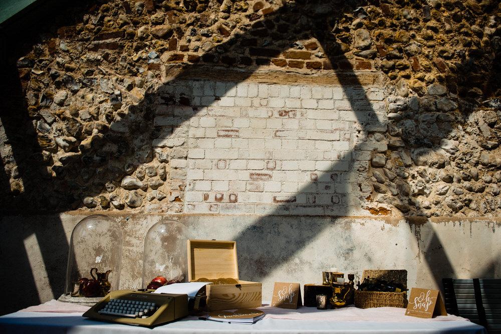 Table Decor Barn Set Up West Lexham Wedding James Powell Photography