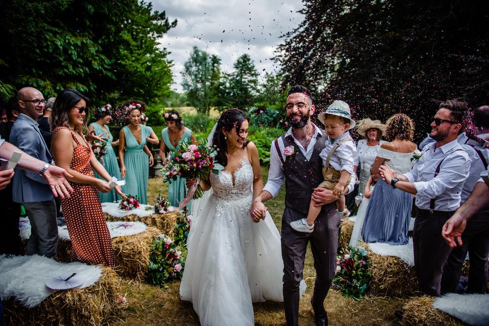 Confetti Throw West Lexham Wedding James Powell Photography