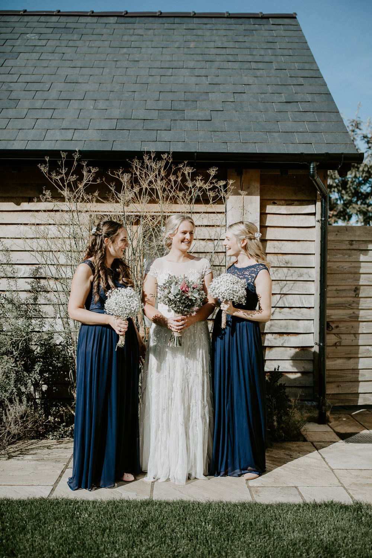 Long Blue Bridesmaid Dress Dresses Maxi Barn Upcote Wedding Siobhan Beales Photography