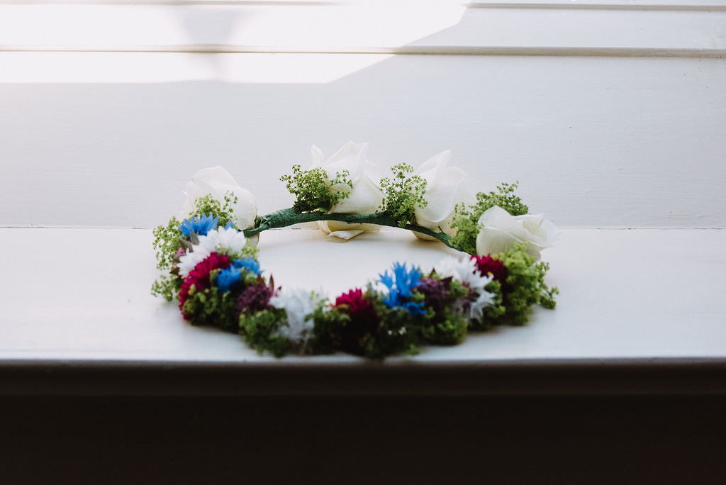 Bride Bridal Flower Crown Eco Friendly Wedding The Stag and the Doe