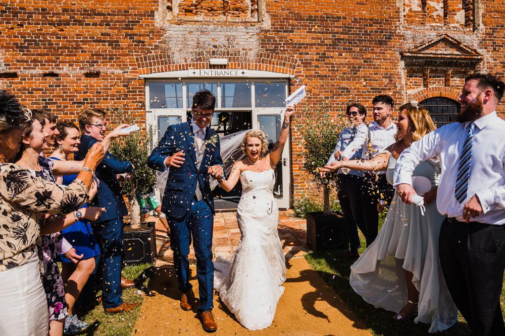 Confetti Throw Godwick Hall Wedding Rob Dodsworth Photography